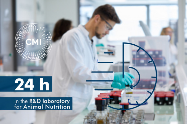 24h in the R&D laboratory for Animal Nutrition in CMI Roullier