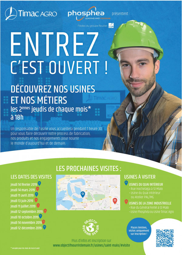 """Nossas filiais TIMAC AGRO France e Phosphea renovam a operação """"Entre, está aberta"""""""