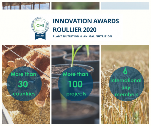 Innovation Awards Roullier 2020: mais de 100 candidaturas!