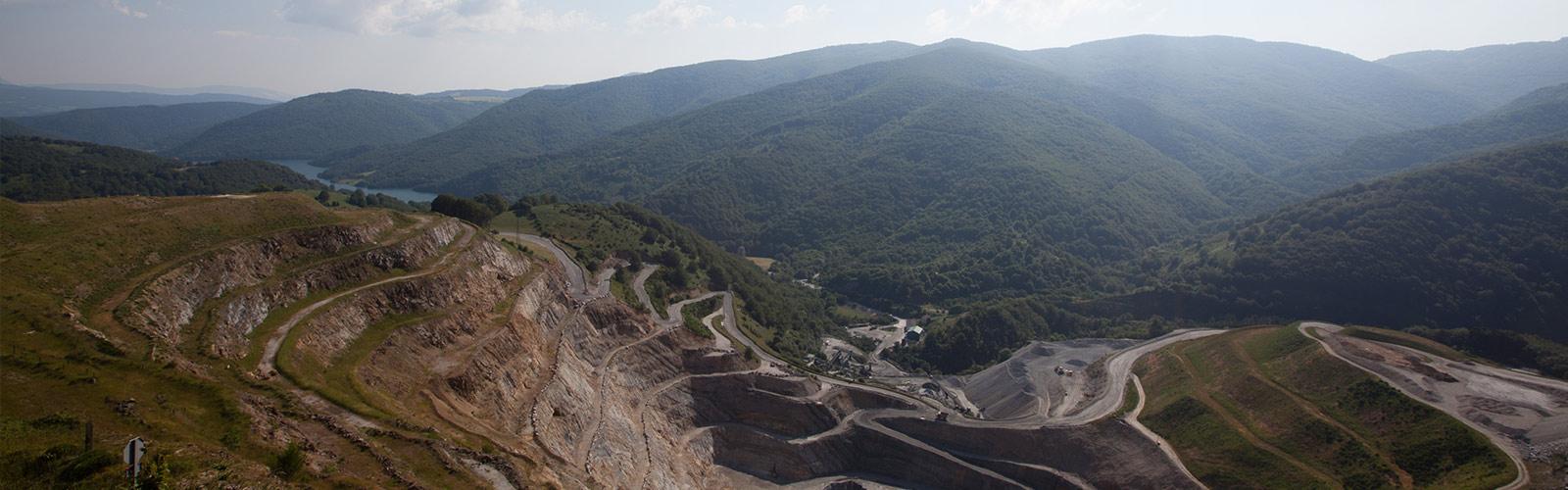 Mine à ciel ouvert de Magnésie du Groupe Roullier